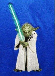 Светящаяся вышивка Йода