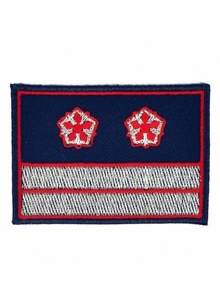 Нашивка РЖД синяя 2 галуна 2 звезды начальник отдела Вагонреммаш