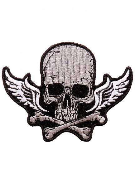Череп и кости с крыльями