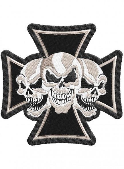 Крест и 3 черепа