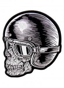 Череп в шлеме с очками