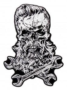 Бородатый череп с гаечными ключами