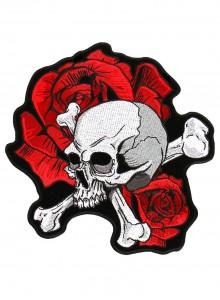 Череп с розой