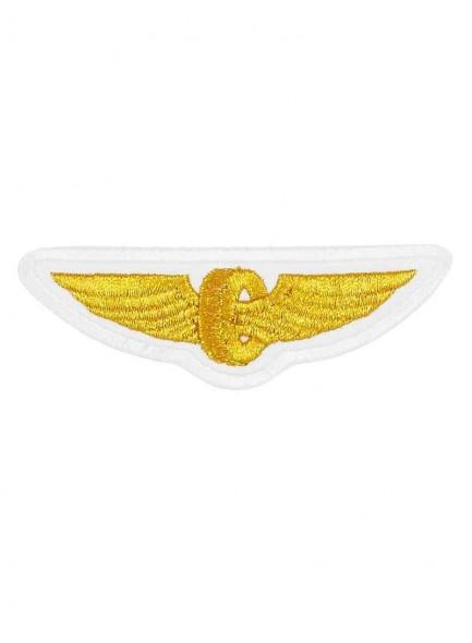 Нашивка техзнак РЖД крылья белые