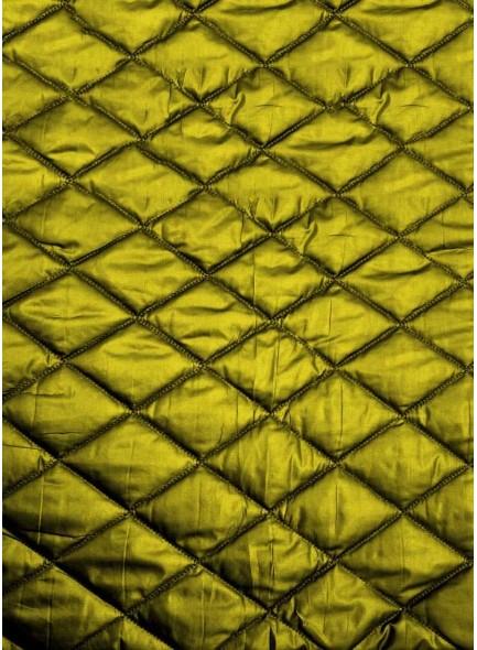 Стеганая курточная ткань желтого цвета