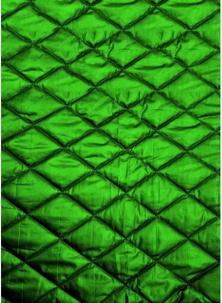 Стеганая курточная ткань зеленого цвета