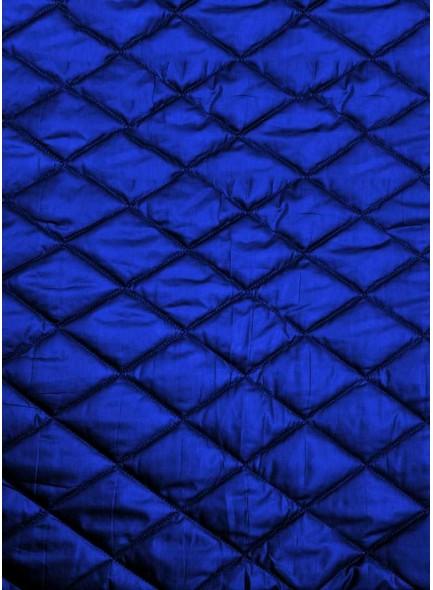Стеганая курточная ткань синего цвета