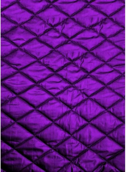 Стеганая курточная ткань фиолетового цвета