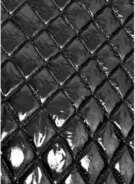 Курточная ткань черный металлик
