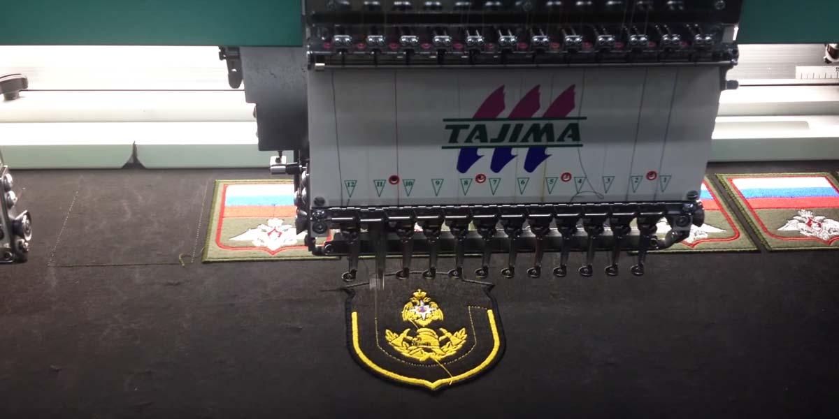 Машинная вышивка в вышивальной машине Tajima